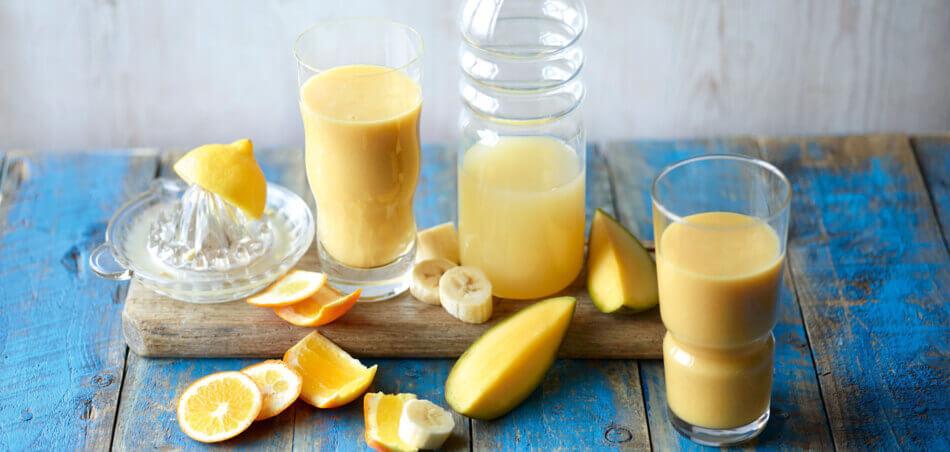 Mango-Bananen-Orangen-Smoothie