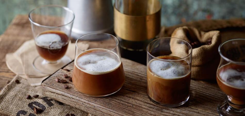 Cold Brew Coffee mit Vanillemilch