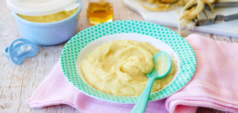Pastinaken-Kartoffel-Brei mit Hähnchen