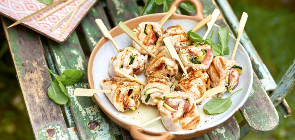 Puteninvoltini mit Zucchini