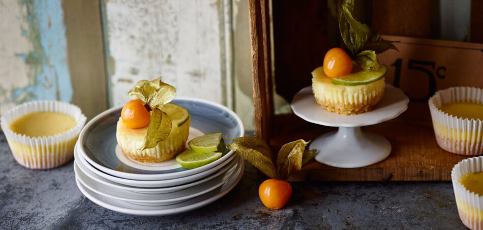 Mini-Limetten-Cheesecakes