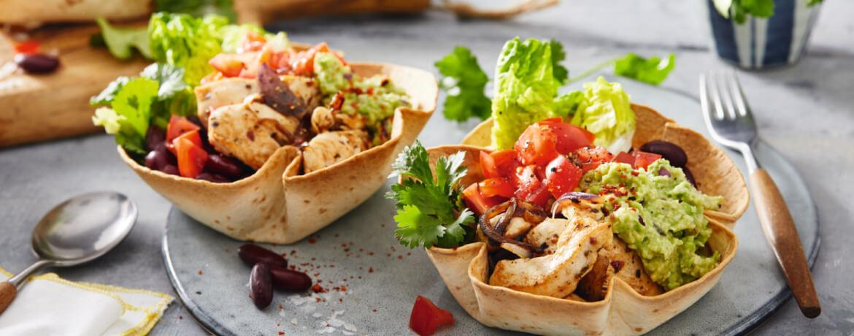 Chicken Burrito Bowl mit Guacamole