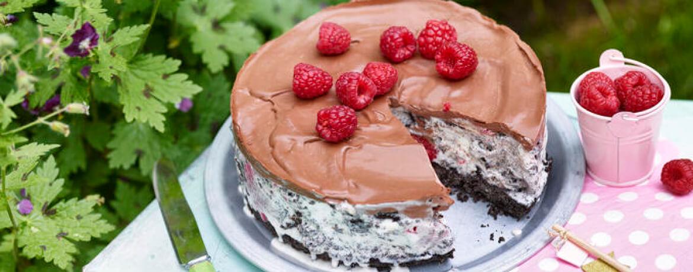 Himbeer-Eis-Torte