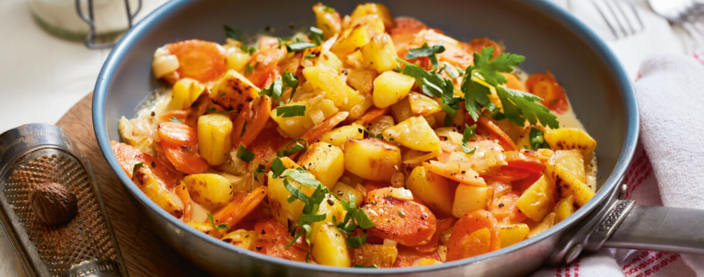 Kartoffel-Karotten-Pfanne
