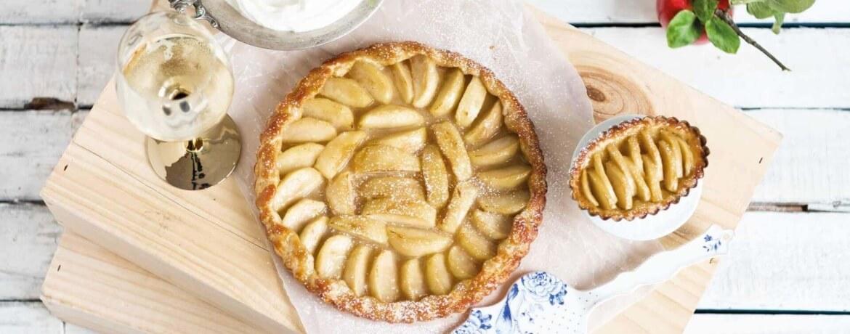 Apfel-Tarte-Tatin mit Quarkcreme