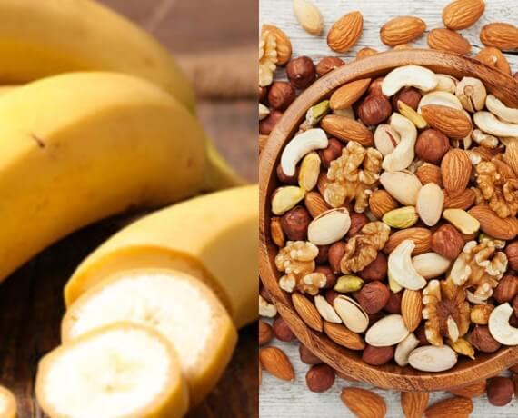 Banane + Studentenfutter