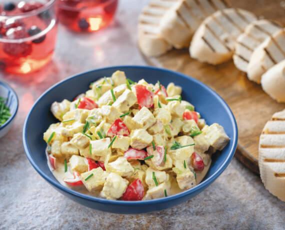 Fruchtiger Geflügel-Curry-Salat
