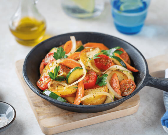 Bratkartoffel-Gemüse-Pfanne