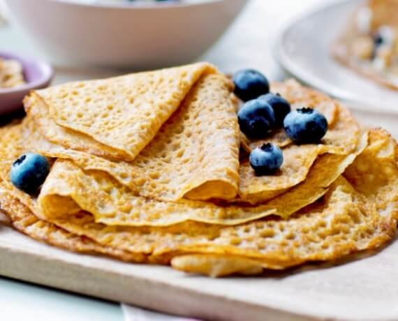 crepes ohne milch
