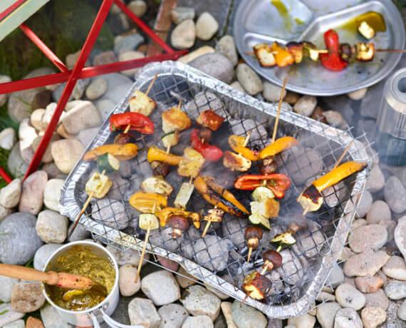 Bunte Gemüse-Grillspieße