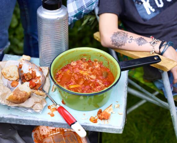 Gulasch-Paprika-Suppe mit Bier