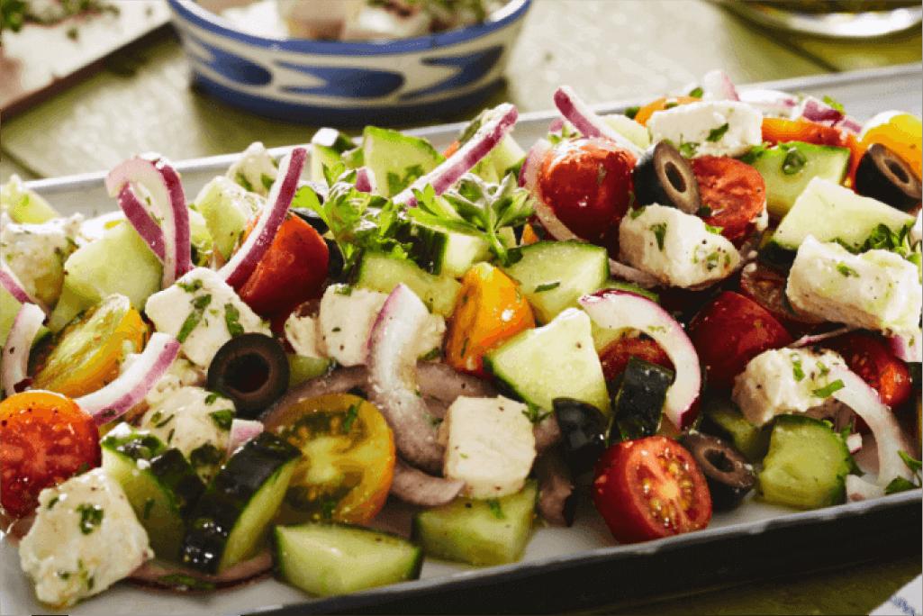 Veganer Griechischer Salat mit Vemondo Feta